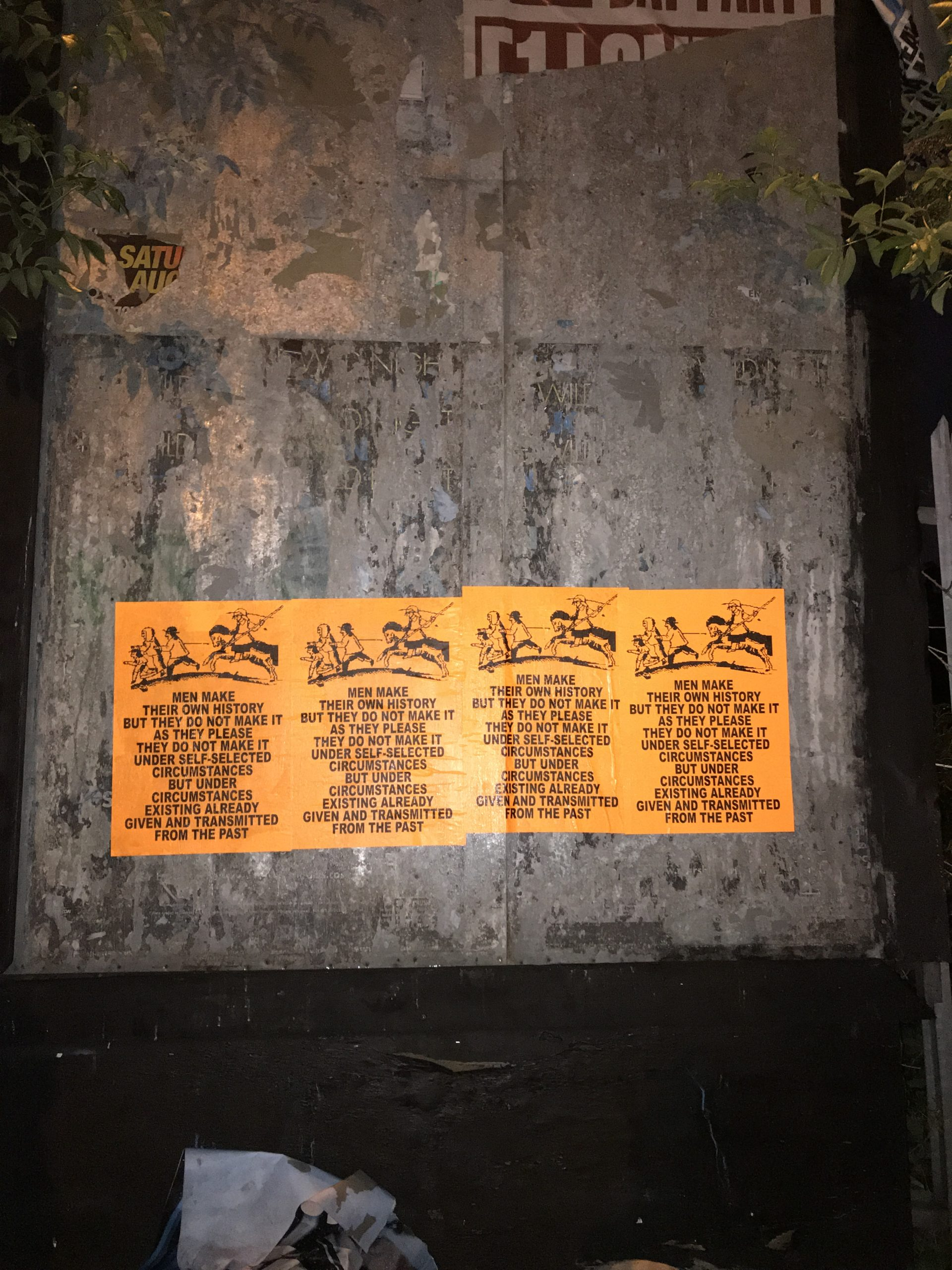 Dani Smith, Given & Trasmitted, A2 Day-Glo Fly Posters
